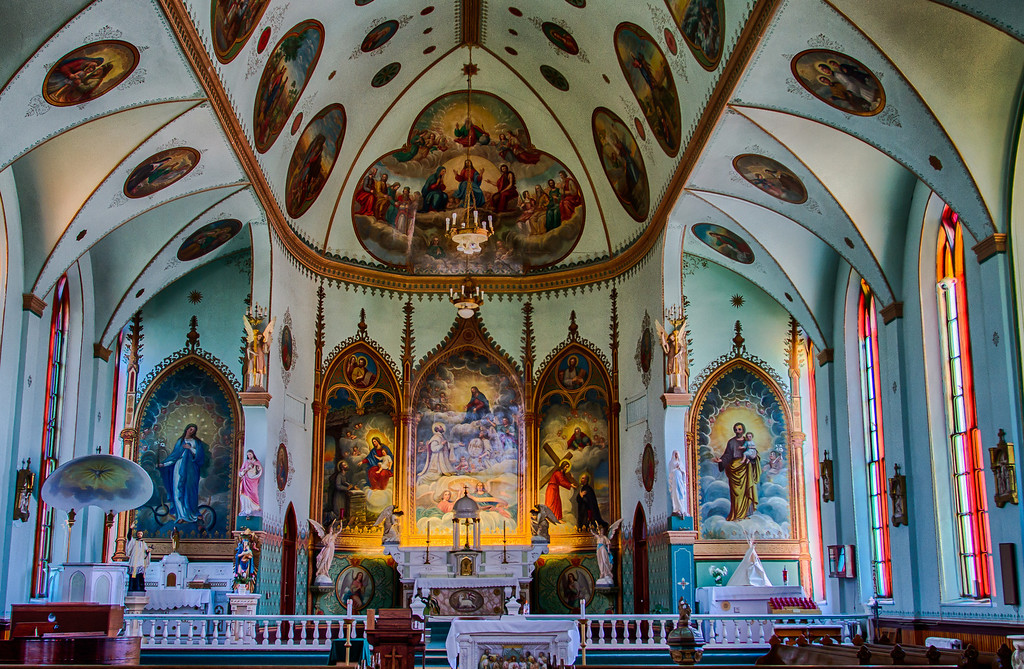 The murals of a 1891 Historic Mission