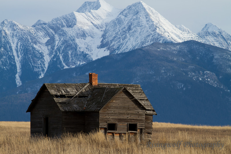 Old homestead in Western Montana