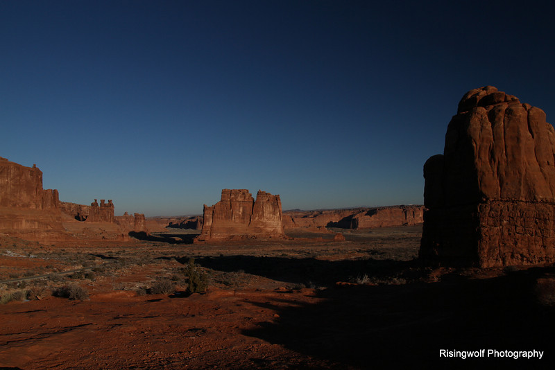 The golden hours in  Arches NP Utah
