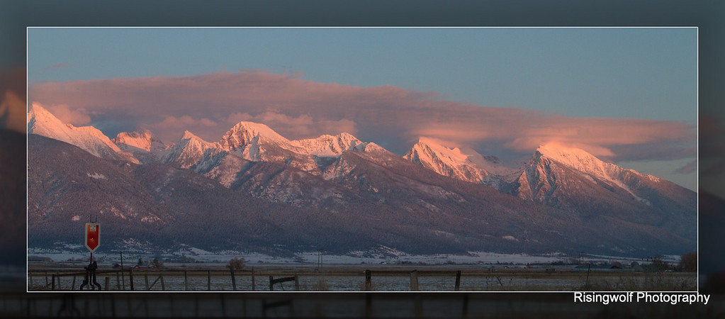 Sunset tonight, The Mission Mountains, Montana